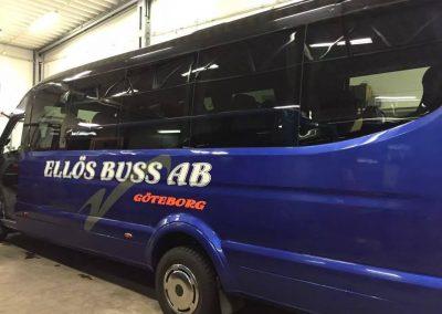 En av våra små bussar polerad och fin